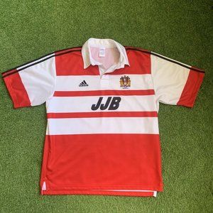 adidas Wigan Rugby League Jersey XL - Red & White - Awesome Condition